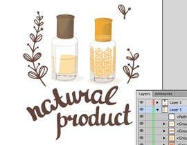 #15 para illustrate Oud perfume bottle and insert into poster de yvilera