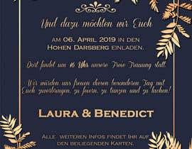 #6 pёr Wedding Invitation nga marianayepez