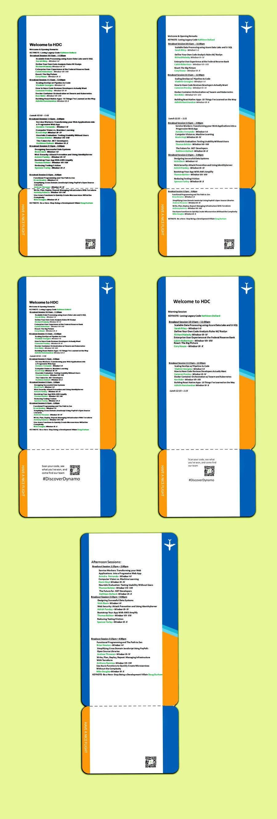 Entry #8 by emastojanovska for Design an Attendee Handout