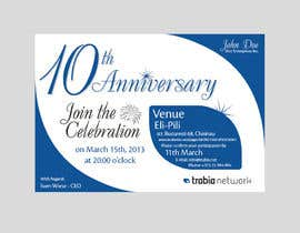 nº 84 pour Corporate Party Invitation Design for 10th anniversary par faisalkreative