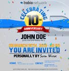 #90 for Corporate Party Invitation Design for 10th anniversary by MJBenitez