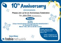 Graphic Design Contest Entry #85 for Corporate Party Invitation Design for 10th anniversary
