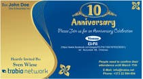 Graphic Design Contest Entry #103 for Corporate Party Invitation Design for 10th anniversary