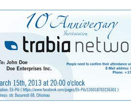 #11 for Corporate Party Invitation Design for 10th anniversary af dirak696