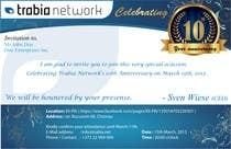 Graphic Design Contest Entry #102 for Corporate Party Invitation Design for 10th anniversary