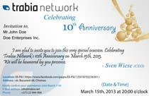 Graphic Design Contest Entry #58 for Corporate Party Invitation Design for 10th anniversary