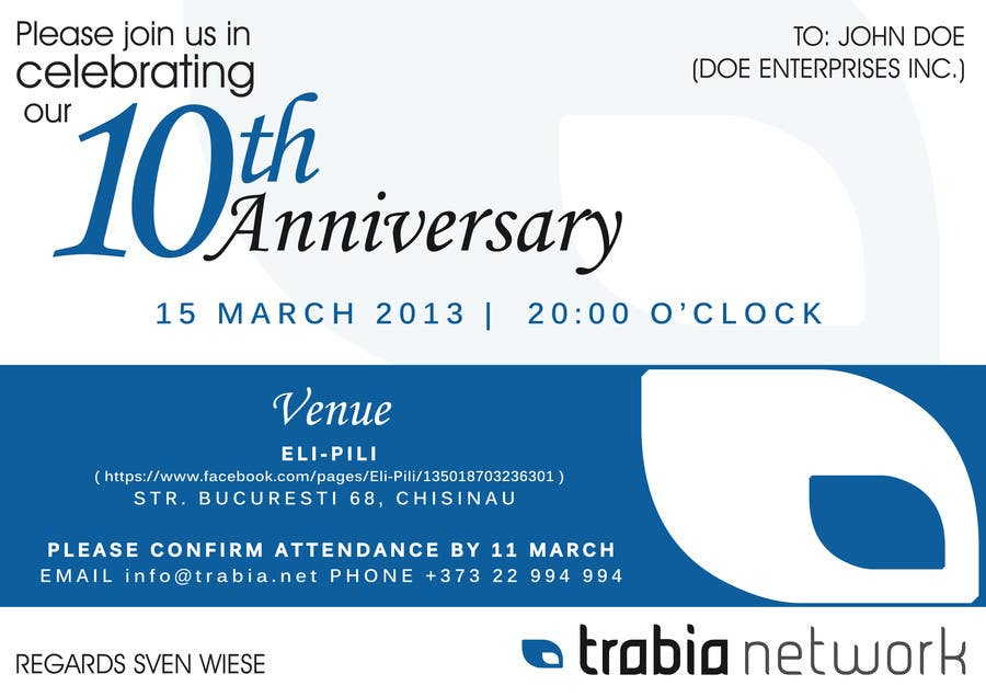 Business anniversary party invitation quotes stopboris Images