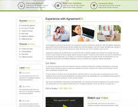 nº 10 pour Graphic redesign - FRONT PAGE and sub template - agreement24.com website par herick05