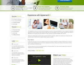 nº 12 pour Graphic redesign - FRONT PAGE and sub template - agreement24.com website par herick05