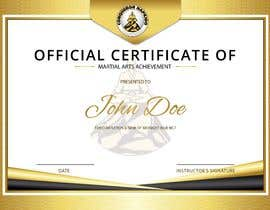 #5 for Design a Martial Arts rank certificate by sununes