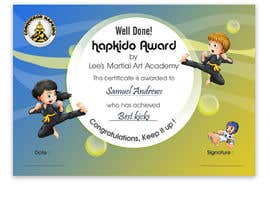 #28 for Design a Martial Arts rank certificate by DhanvirArt
