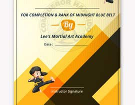 #36 for Design a Martial Arts rank certificate by DhanvirArt