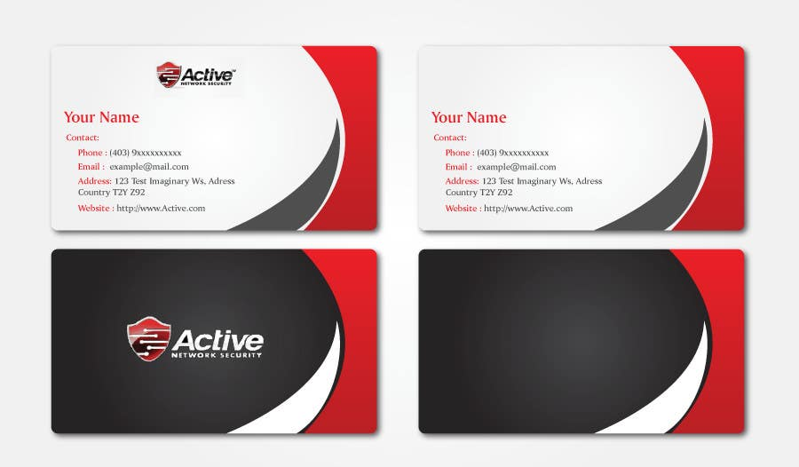 Inscrição nº 7 do Concurso para Business Card Design for Active Network Security.com