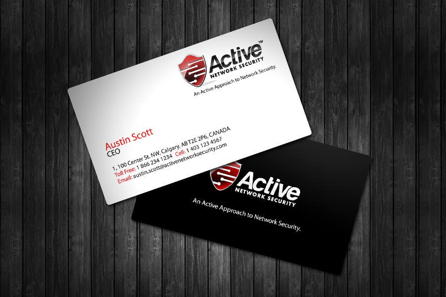 Contest Entry #32 for Business Card Design for Active Network Security.com