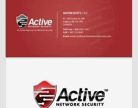 oanaalex tarafından Business Card Design for Active Network Security.com için no 140