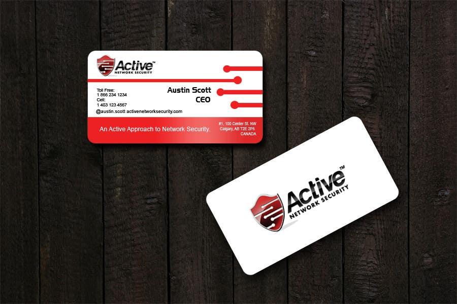 Inscrição nº 102 do Concurso para Business Card Design for Active Network Security.com