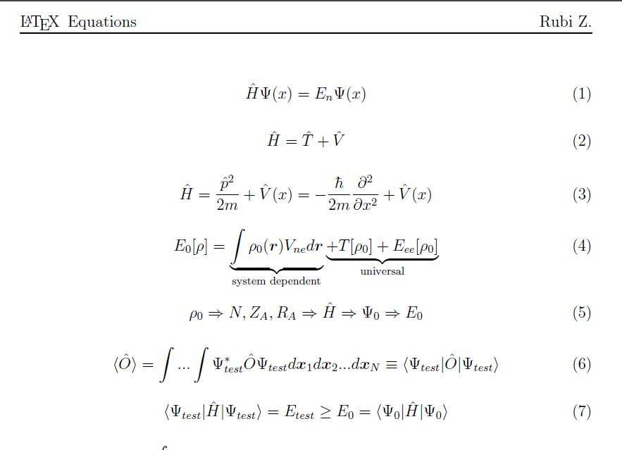 Entry 9 By Rubizarmiento For Typing Equations In Latex Freelancer