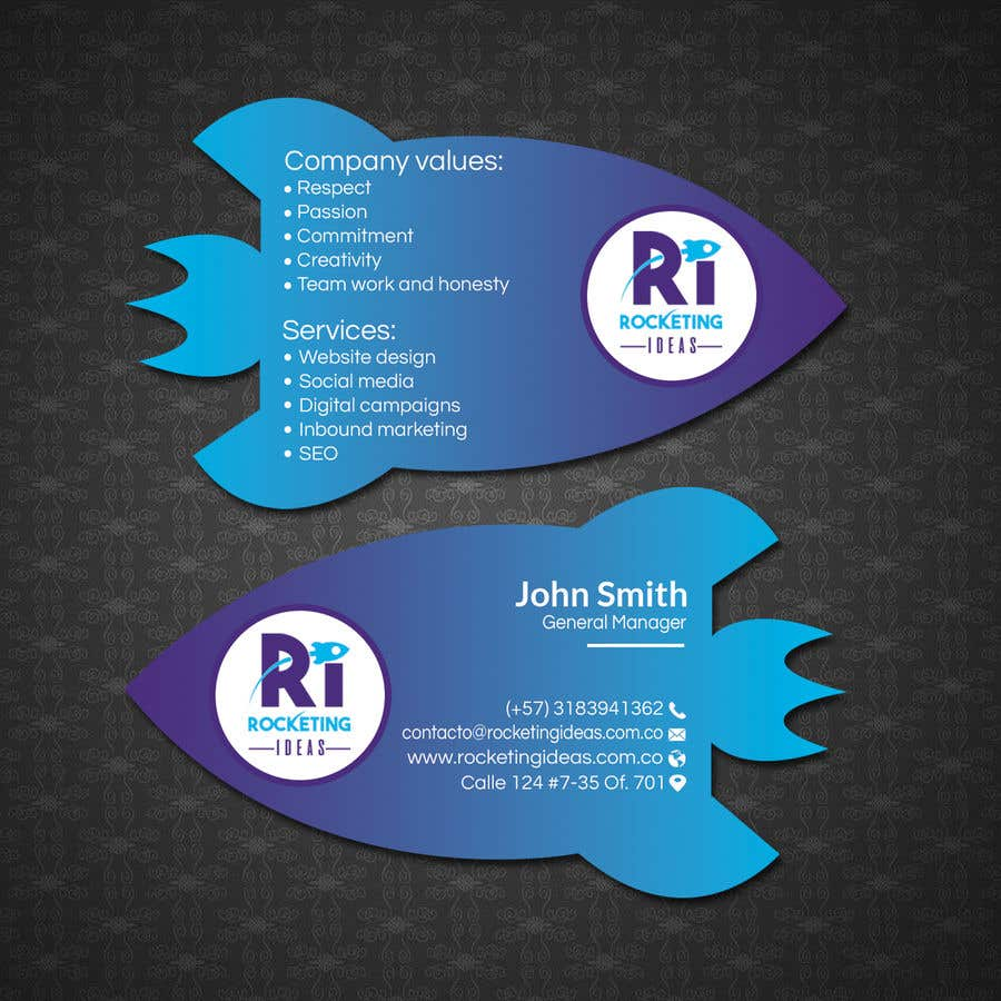Entry #119 by papri802030 for business card design for a digital