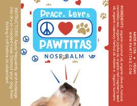 #3 for Design label for diferent organic natural dog balm for nose, paws and skin af yuliabintani
