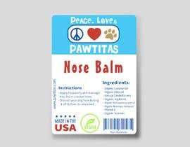 #11 for Design label for diferent organic natural dog balm for nose, paws and skin af mohamedgamal148