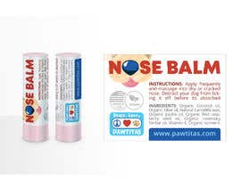 #8 for Design label for diferent organic natural dog balm for nose, paws and skin af olgalolo