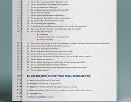 Nro 8 kilpailuun One page checklist design käyttäjältä anantomamun90