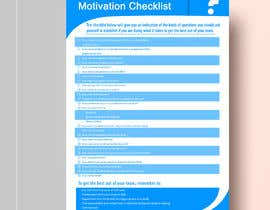 Nro 14 kilpailuun One page checklist design käyttäjältä Fantasygraph