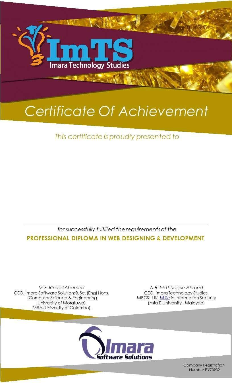 Proposition n°17 du concours Design a certificate for our Course