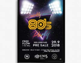 #25 untuk design ticket and roll up banner for an 80's themed party oleh montejopau