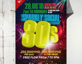 #39 untuk design ticket and roll up banner for an 80's themed party oleh Designpf
