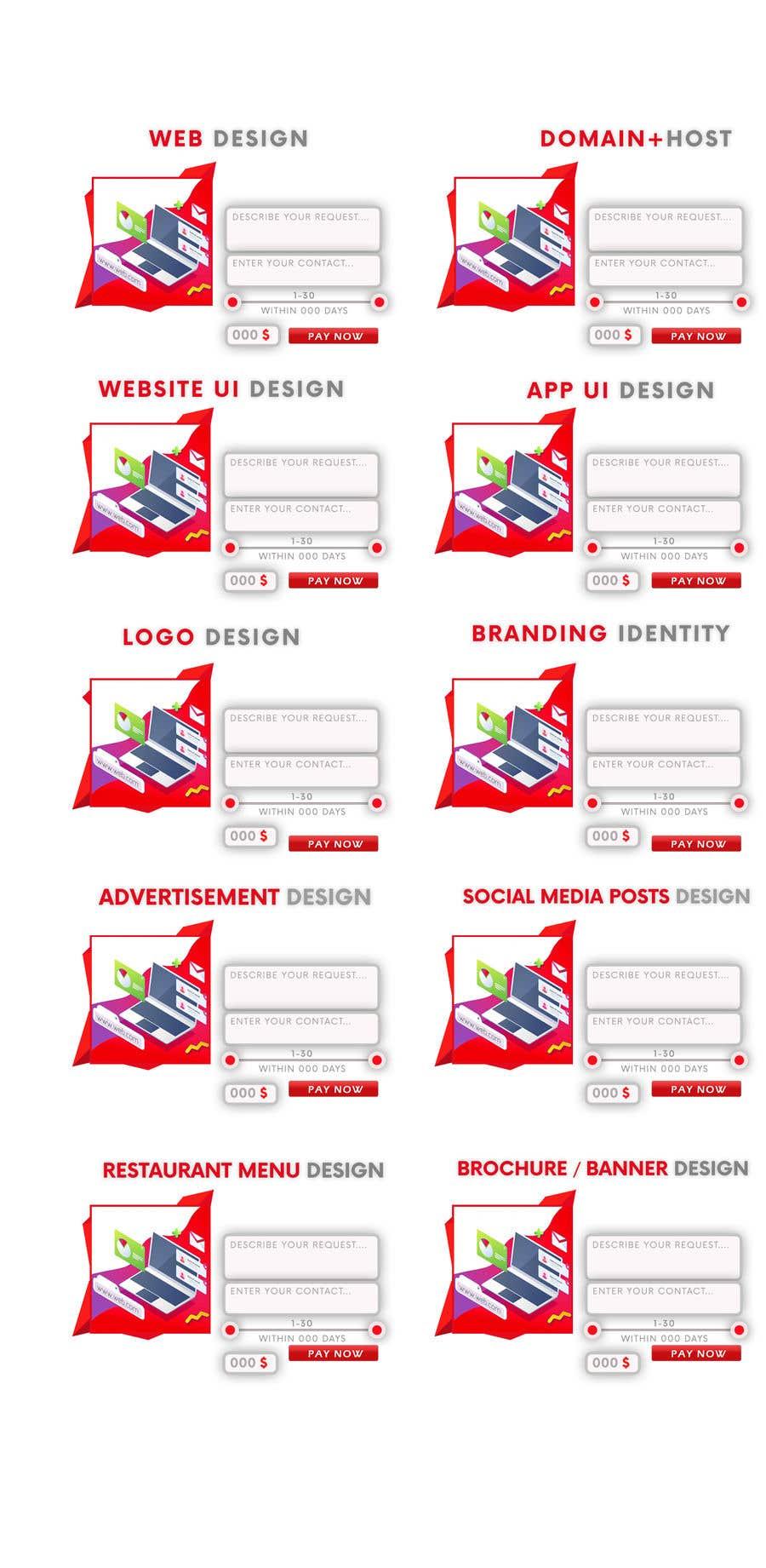Penyertaan Peraduan #13 untuk UI design to generate e commerce section in Home page