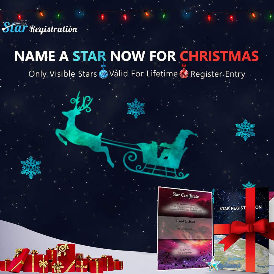 Christmas Ads.Entry 58 By Mirnanader5 For Star Registration Com