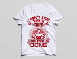 nº 26 pour Gym T-shirt Design par robiulhossi