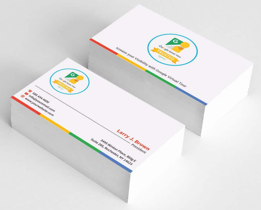 Entry 59 by sabbir2018 for design some business cards for google contest entry 59 for design some business cards for google street view agency reheart Gallery