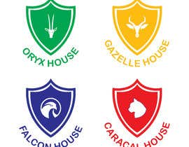 Nro 30 kilpailuun 4 School House Logos. We have Oryx (green), Gazelle (yellow), Falcon (blue) and Caracal (red). See image 1 for more details. Ive attached examples of online images. käyttäjältä mdmominulhaque