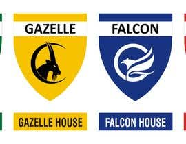 Nro 6 kilpailuun 4 School House Logos. We have Oryx (green), Gazelle (yellow), Falcon (blue) and Caracal (red). See image 1 for more details. Ive attached examples of online images. käyttäjältä dhannu