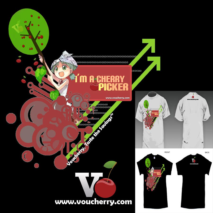 Participación en el concurso Nro.38 para T-shirt Design for Voucherry.com