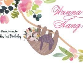 #8 สำหรับ A first birthday party invitation โดย saikaru