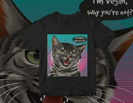 #76 untuk Vegan T-shirt Designs oleh GunaAgung06