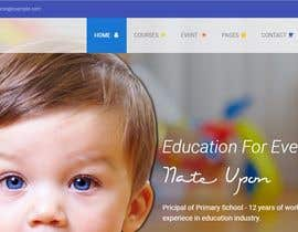 #18 para Building a website for a preschool/kindergarden. A school for kids in the age  (3 - 6 years) de sumonakon3257