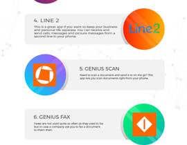 Nro 7 kilpailuun Design an simple info graphic for top 10 apps käyttäjältä DiponkarDas