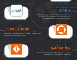 Nro 3 kilpailuun Design an simple info graphic for top 10 apps käyttäjältä kreativewebtech