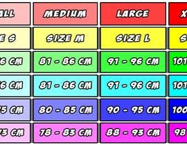 #13 para Make our size chart amazing por FerJam410