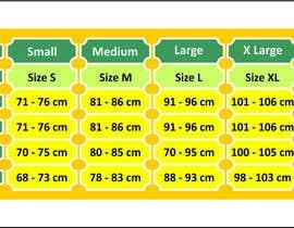 #12 para Make our size chart amazing por iqbalkhatri55