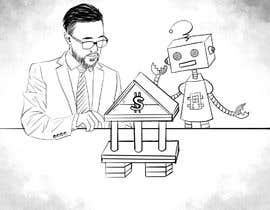 #23 para Draw a robot and a human in a business scene por KhoSB