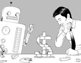 #3 para Draw a robot and a human in a business scene por RoyBeltran
