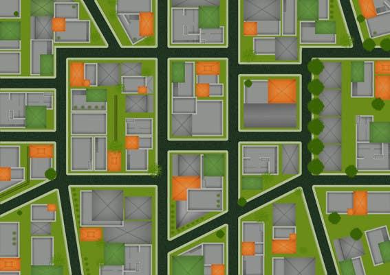Конкурсная заявка №10 для Top Down City Map View