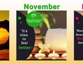 Shojol786 tarafından 3 Massage Therapy Flyers (October, November, December) için no 10