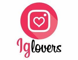 #32 para Diseñar un logotipo para iglovers.com (servicios de instagram) de nicolasegarcia
