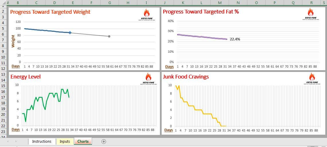 entry 12 by ahmedsalama007 for design a weight loss tracking excel